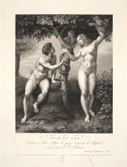 Adam i Ewa pod drzewem rajskim