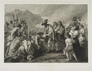 Powrót Karola II z wygnania, 1660 - powitanie w Dover