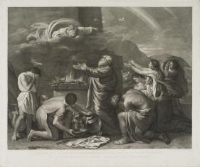 Noe składa Bogu ofiarę dziękczynną