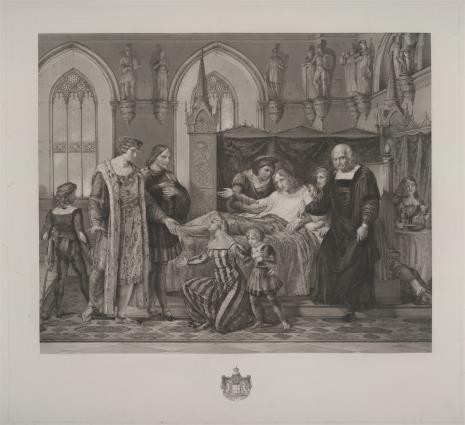 Giuseppe Baretta, Karol VIII król francuski oswobadza Giovanniego Gal. Sforzę