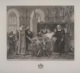 Karol VIII król francuski oswobadza Giovanniego Gal. Sforzę
