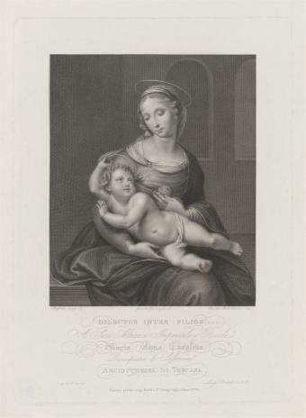 Faustino Anderloni, Matka Boska z Dzieciątkiem na kolanach