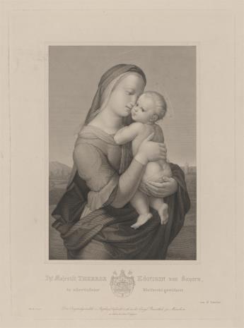 Samuel Amsler, Matka Boska z Dzieciątkiem na tle krajobrazu
