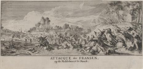Romeyn De Hooghe, Bitwa na wybrzeżu holenderskim k. Moock