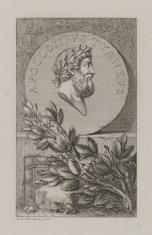 Medal z popiersiem filozofa greckiego Apolloniosa z Tyany