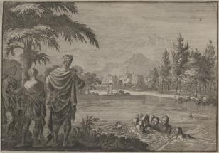 Pojmanie kąpiącej się Betsaby przez sługi Dawida [prawdopodobnie]