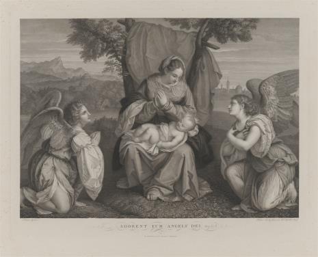 Pietro Anderloni, Matka Boska z Dzieciątkiem, adorowana przez anioły