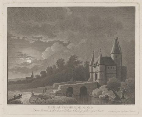 Johann Friedrich Bause, Zamek w świetle księżyca