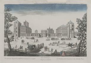 Widok zamku w Vincennes