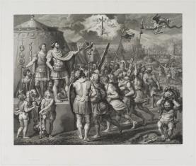 Cesarz Konstantyn przemawia do żołnierzy
