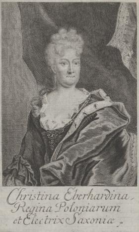 Moritz Bodenehr, Portret Krystyny Eberhardiny, królowej Polski, żony Augusta II