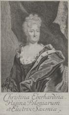 Portret Krystyny Eberhardiny, królowej Polski, żony Augusta II