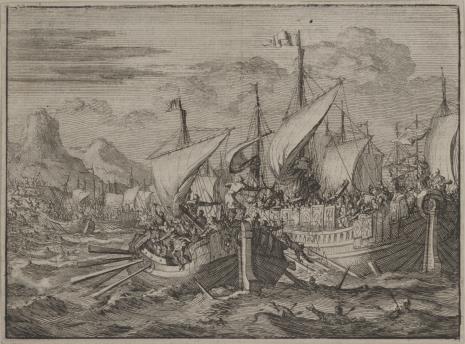 Jan Luyken, Bitwa morska Izraelitów z Fenicjanami