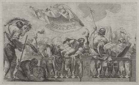 Bernard Zaecht, Przybycie królowej Saby z darami do króla Salomona