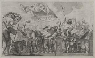 Przybycie królowej Saby z darami do króla Salomona