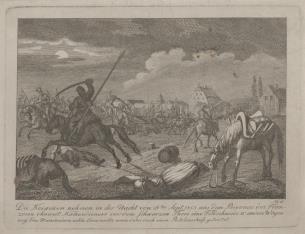 Atak Kozaków na obóz francuski w Saksonii w 1813 r.
