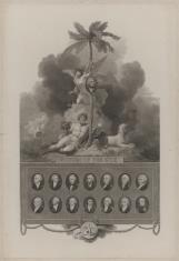 Portrety piętnastu dowódców angielskich w bitwach morskich z Francją 1794-98