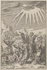 1. Dolina Jozafata  2. Niezidentyfikowana scena biblijna (na odwrocie)