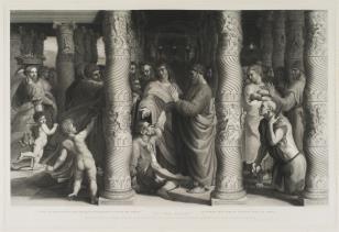 Apostołowie Piotr i Jan uzdrawiają chromego