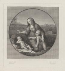 Matka Boska ze świętym Janem Chrzcicielem, czuwająca nad śpiącym Dzieciątkiem
