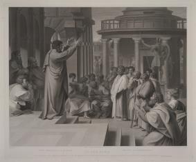 Święty Paweł Apostoł nauczający w Atenach
