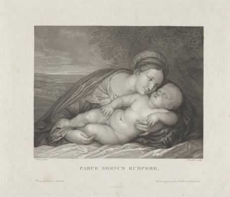 François Jacques Oberthür, Matka Boska ze śpiącym Dzieciątkiem