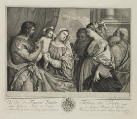 Matka Boska z Dzieciątkiem w otoczeniu świętych