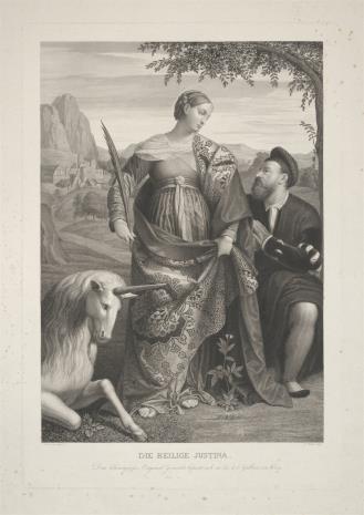 Karl Heinrich Rahl, Święta Justyna