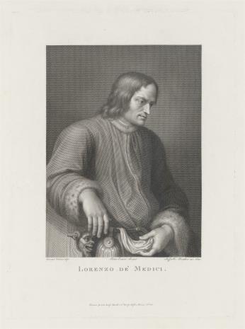 Raphael Morghen, Wawrzyniec Medici, zw. Wspaniałym