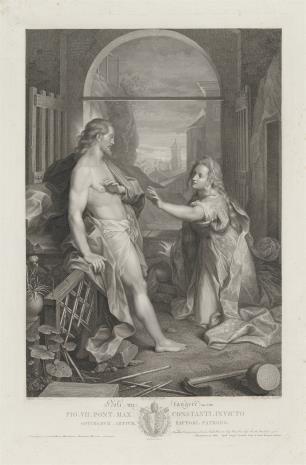 Raphael Morghen, Chrystus jako ogrodnik ukazuje się Marii Magdalenie