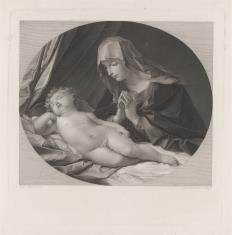 Matka Boska czuwająca nad śpiącym Dzieciątkiem
