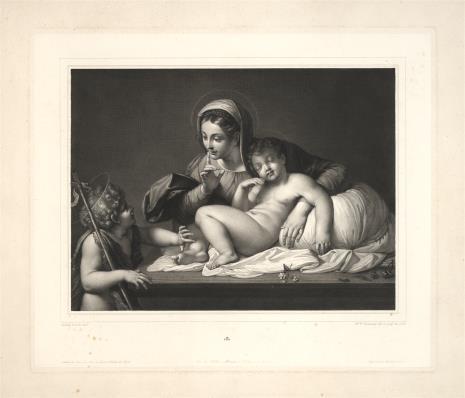 Joseph Théodore  Richomme, Matka Boska ze śpiącym Dzieciątkiem i świętym Janem
