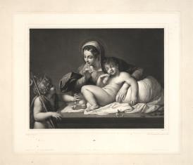 Matka Boska ze śpiącym Dzieciątkiem i świętym Janem