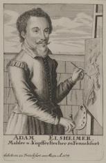 Adam Elsheimer, malarz i rytownik, przed sztalugami