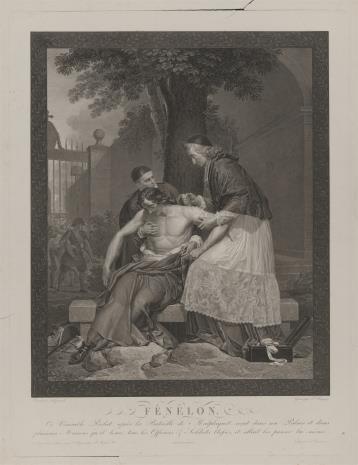Pierre Charles Baquoy, Prałat François Fénelon opatruje rannych po bitwie pod Malplaquet