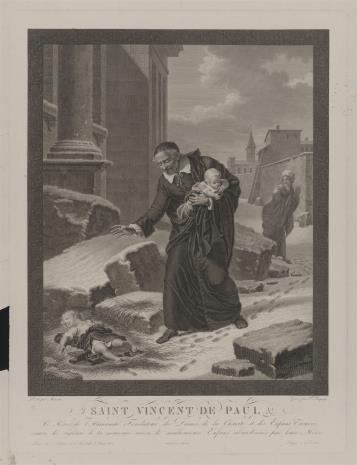 Pierre Charles Baquoy, Św. Wincenty à Paulo zbierający porzucone dzieci