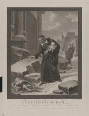Św. Wincenty à Paulo zbierający porzucone dzieci