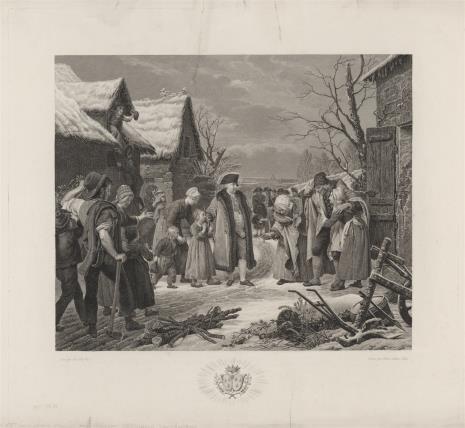 Pierre Michel Adam, Ludwik XVI udziela jałmużny ubogim w zimie 1788