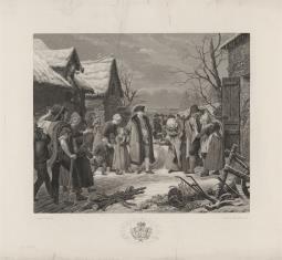 Ludwik XVI udziela jałmużny ubogim w zimie 1788
