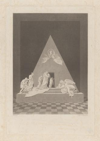 Karl-Joseph Agricola, Nagrobek w formie piramidy