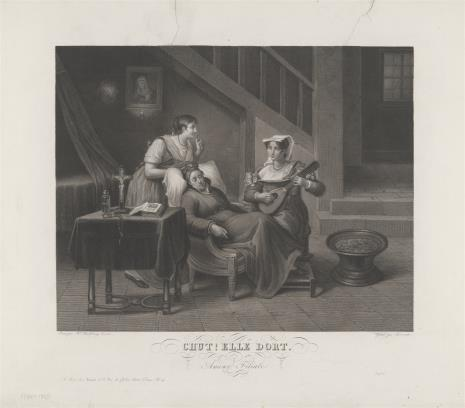 Jean Thouvenin, Dwie dziewczyny czuwające przy śpiącej staruszce