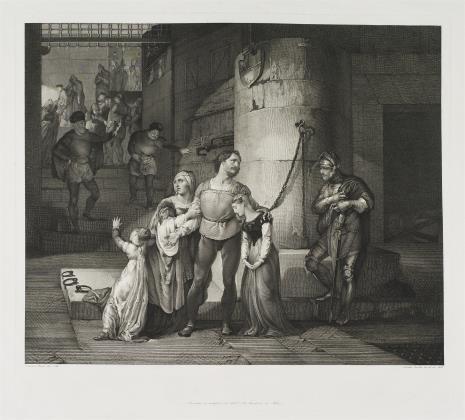 Giuseppe Baretta, Pożegnanie hrabiego de Campagnola z rodziną