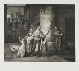 Pożegnanie hrabiego de Campagnola z rodziną
