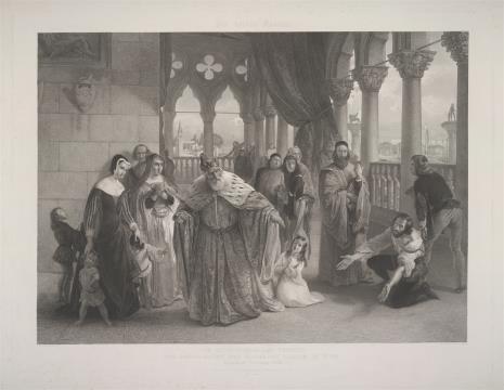 Johann Passini, Doża Francesco Foscari skazuje swojego syna na wygnanie