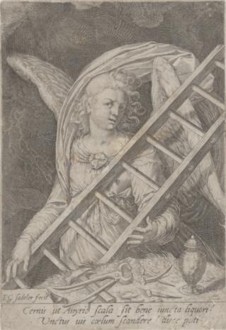 Egidius [Gilles] Sadeler, Anioł z narzędziami Męki Pańskiej