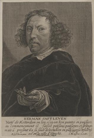 Coenrad Waumans, Autoportret malarza Hermana Saftlevena
