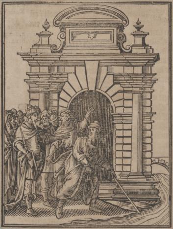Christoph Młodszy Sichem, Scena z historii Arona i Mojżesza
