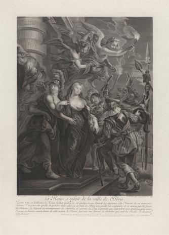 Cornelis Martinus  Vermeulen, Ucieczka królowej Marii Medici z zamku w Blois