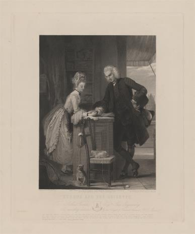 George Thomas Doo, Pisarz angielski Laurence Sterne i sprzedawczyni rękawiczek