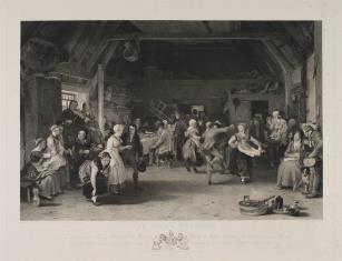 Zabawa weselna w wiejskiej gospodzie